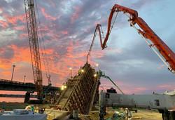Building out the V-Pier at Dusk