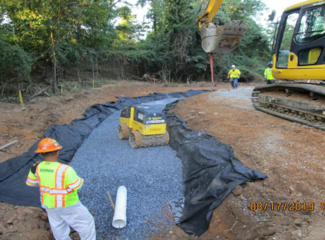 Installing Bioswale Structures on NPS Property