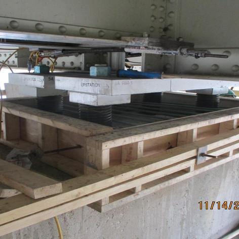 Prepping for SCC Concrete Placement at Pier 5, North Bridge.
