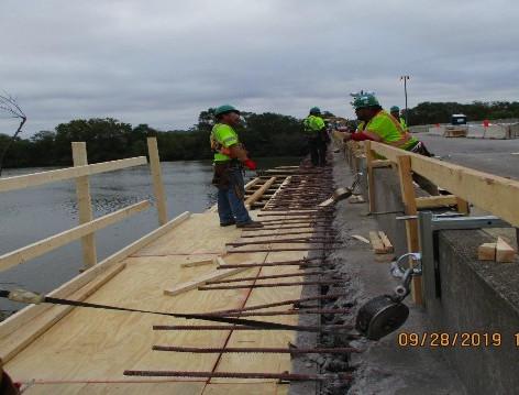 Forming Formwork, Noth Bridge Sidewalk