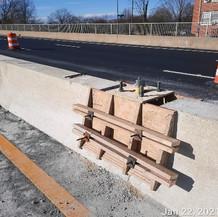 Forming Streetlight Pole Foundation On Median Barrier, East Approach.