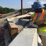 Finishing top portion of bridge 1017 NW cheek wall