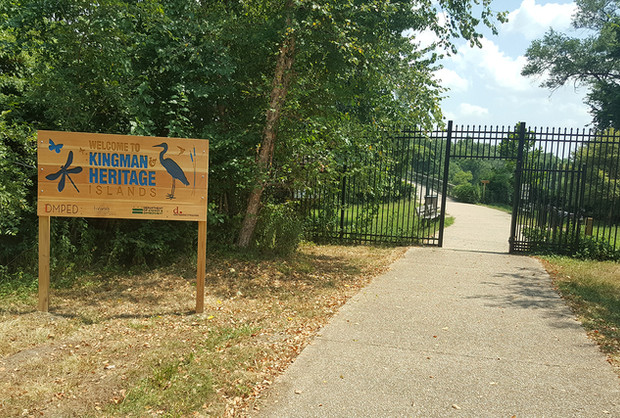 Entrance to Kingman Island