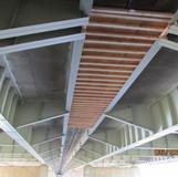 Installed Demo Shield Between Pier 6 and 7, Between Bridges Along Kingman Island