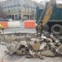 Demo for installation of Bump Out at the SW Corner of 14th and P Street