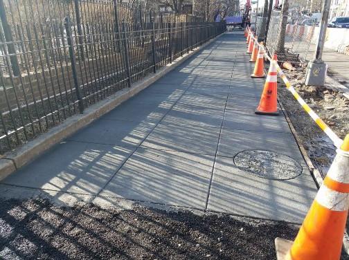 New PCC Sidewalk between Riggs and S Street Eastside