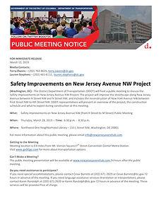 New Jersey Avenue NW - DDOT Public Meeti