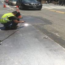 Rewelding Steel Plates between Wallach and U Street