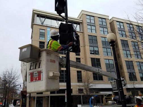 Construction of Temporary Traffic Signal