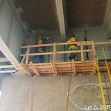 Removing Existing Rivets, Pier 5 North Bridge
