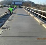 Sidewalk Concrete North Bridge.