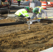 Installing underdrain connect pipe at WB 5th St to 4th St and from NB MLK to Alabama Ave, SE