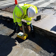 QA/QC testing Aggregate Base Material prior to PCC Base placement