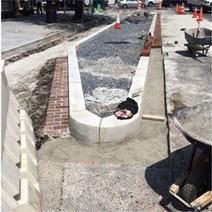 Brick gutter installation