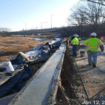 F-Shape Barrier Concrete Placement at I-295NB Ramp.