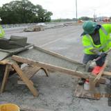 Placing SCC Concrete, South Bridge.