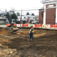 Excavation for bioretention of Storm water facility located between 4th -5th Street NB RT.