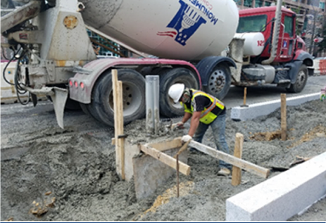 PCC concrete placed at TS-40 including encased PVC to HB-13