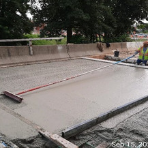 Ramp C Approach Slab Concrete, South Bridge.