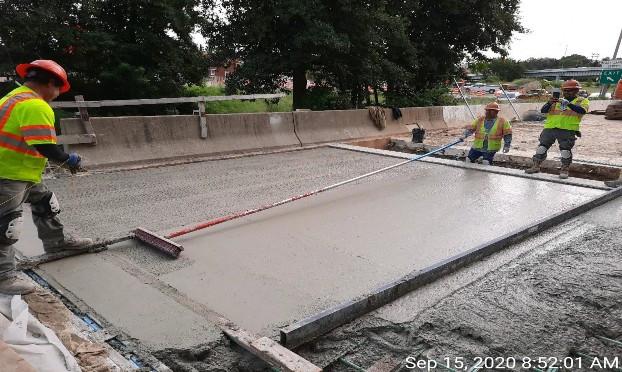 Ramp C Approach Slab Concrete, South Bridge.