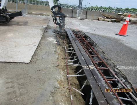 Strip Seal Reconstruction, South Bridge.