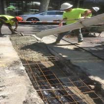 Pouring Class E Concrete for PCC Base over Laterals