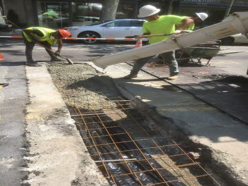 Pouring Class E Concrete for PCC Base over Laterals