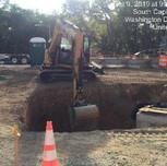 Excavating for Bioretention facility
