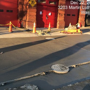 Driveway replacement at Fire Station (Repair) LT Side Sta: 45+90-46+45