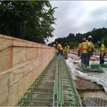 Rebar installation for Moment Slab Parapet Wall over I- 295 SB on AFW Bridge # 1017 Abutment-B.