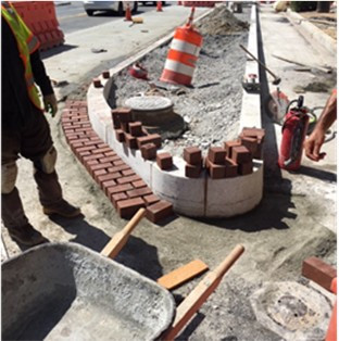 Brick gutter installation