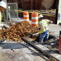 Excavating for Street Light L04