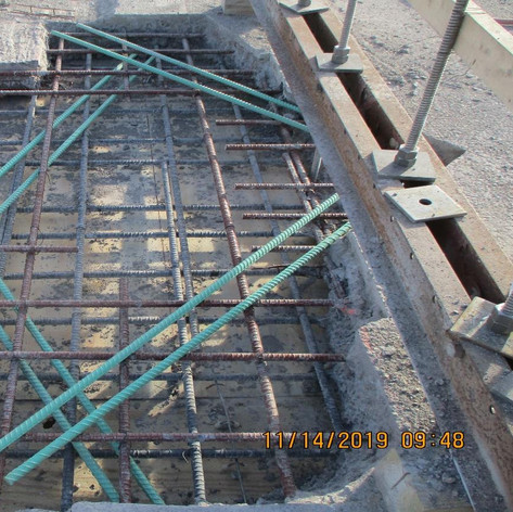 Installing Additional Rebars for Scuppers Span 1, North Bridge.