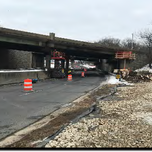 Contractor In-Placed MOT for line 1 closure on SB South Capitol Street SW