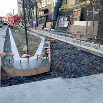 FMCC installing remaining granite curb at SEC of 14th & Fla Ave