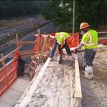 Saw-cutting on AFW Bridge # 1016 (I-295 NB)