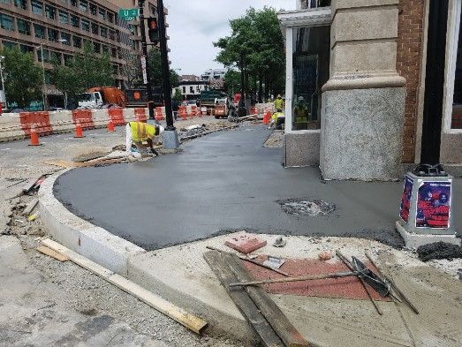 New Sidewalk and the NEC U St and 14th St NW.