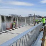 Setting Pedestrian Railing, North Bridge