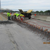 Demolishing Median Barrier at Existing OH Sign Base