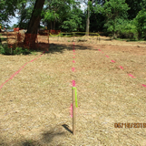 Marking Trench Lines for Storm Drain Structures along Pedestrian Connection Path