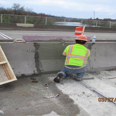 Median Barrier Repair at Armored Joints