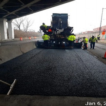 HMA Paving at East Approach, Westbound.