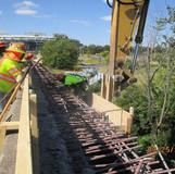 Sidewalk Demolition, North Bridge