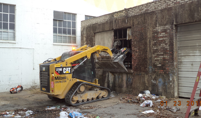 Demolition existing building 1509