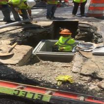 Installation of Manhole on T Street on the Eastside