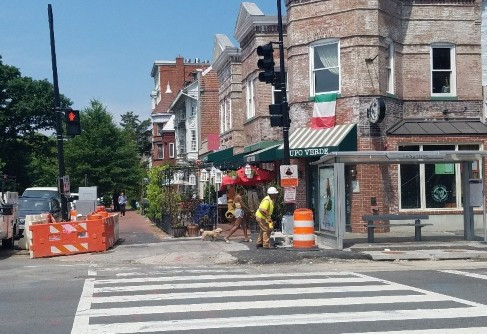 Signal pole to be installed at NWC of 14th & T St.