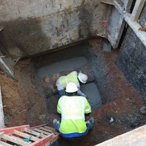 Placement of PCC pad for Sewer Manhole (MH16)