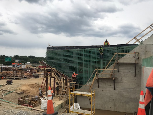 East Abutment: Install wingwall rebar