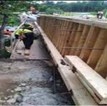 Reinforcing formwork for propose Moment Slab Parapet Wall on AFW Bridge # 1017 over I-295 SB