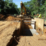 Excavation between Proposed M-2 and M-3, Pedestrian Connection Path